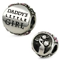 Sterling Silver Ohm Daddy's Little Girl Bead Charm Aal010