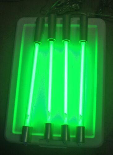 Lot 4 Fast Furious StreetGlow 15 Inch Green Neon Tubes With 4way Plug Free Ship