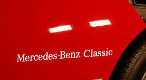 MERCEDES-BENZ-CLASSIC-DECAL-PEGATINA-STICKER-AUFKLEBER-W124-W123-W126-C126-R107