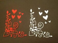 10 x Loveland Corner die cuts ideal for Valentine / Wedding **FREE UK POSTAGE**