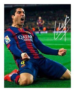 Luis Suarez Uruguay Soccer Signed Autographed A4 Photo Print Poster Memorabilia