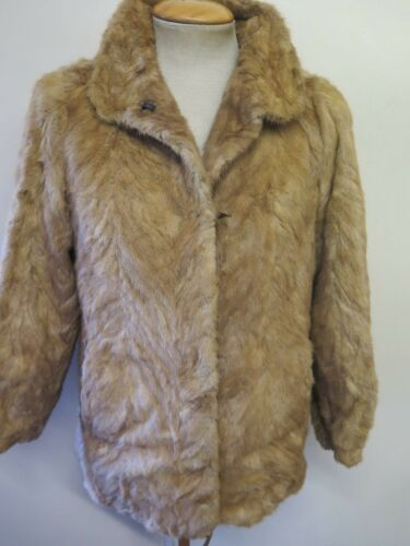 40 12 Brown Jacket 42 M Light Uk Euro Vintage 14 Mink Genuine European Coat Fur qvqEAO