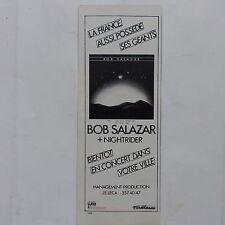 Publicité presse magazine rock années 80 BOB SALAZAR  NIGHTRIDER     9X24