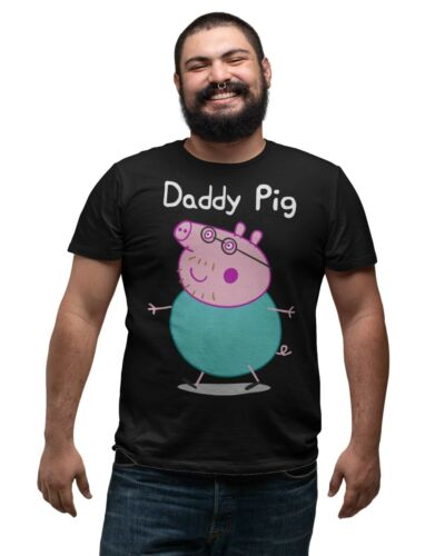 Daddy Pig T-Shirt Dads Fathers Day Gift Present Unisex Regular Fit T Shirt