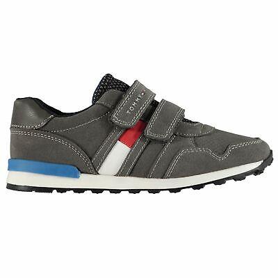 Dettagli su scarpe bambino ginnastica sneakers Tommy Hilfiger FLAG TRAINERS strappi grigio