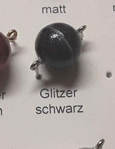 4 unidades producción alemana Magnet cierres con glitter de acrílico para perlas
