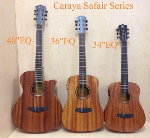 "1 of 1 - Caraya 40"" All Mahogany Thin-body Acoustic Guitar,Cutaway w/Built-in EQ+Free Bag"