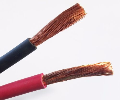 """Car Truck Custom Made 42/"""" Cable RV Solar 4 Gauge AWG Copper Battery Cable"""