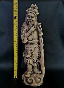 Huge-Antique-Chinese-Tibetan-Oriental-Monk-Statue-Figurine-36cms-Tall-2Kg-Heavy