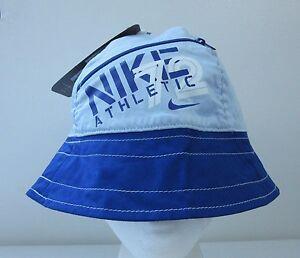 Nike 72 Athletic Big Logo Blue Womens Bucket Hat S M Sun Cap Hip Hop ... c6cb0c325