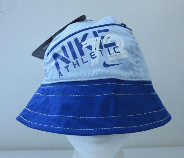 Nike 72 Athletic Big Logo Blue Womens Bucket Hat S m Sun Cap Hip Hop ... 77a08dba70