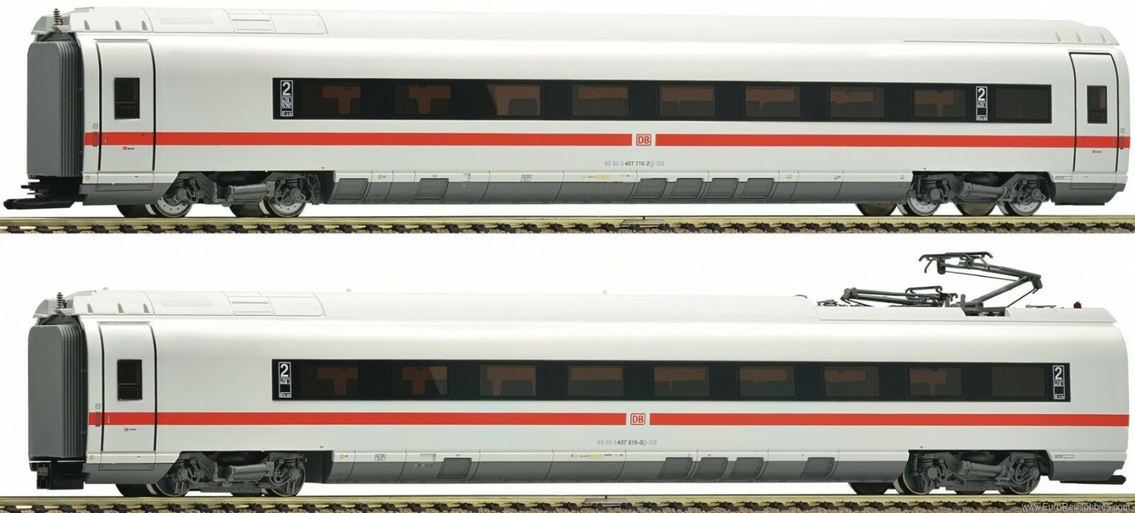 FLEISCHMANN 448281 Set Velaro D Zug 715, 2a cl 2a CL. Holz -Router, DB DCC