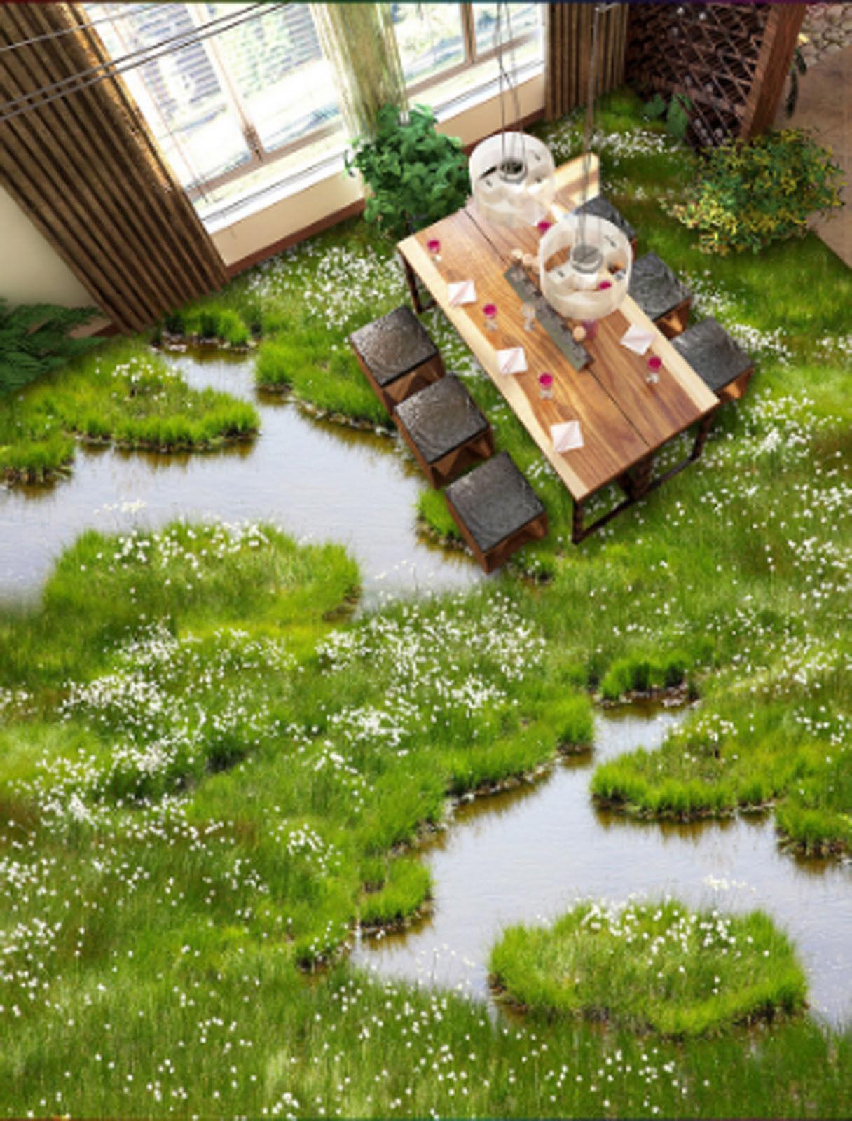 3D Grün Grass 437 Floor WallPaper Murals Wallpaper Mural Print AJ AU Lemon