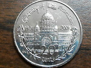 2001 Federation 20c Coin ( VICTORIA )  UNCIRCULATED MINT CONDITION EX Mint ROLL