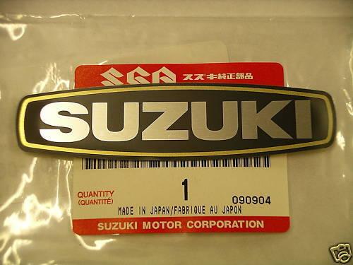 L Genuine Suzuki Emblem A50 AP50 AC50 GT125 GT380 GT550 NEW NOS