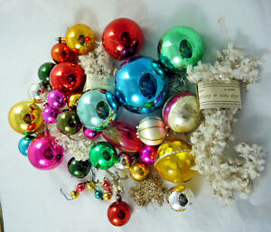 Addobbi Natalizi Vintage.Vintage Christmas Decorations Christmas Tree Balls Ball Mixed Glass Plastic Ebay