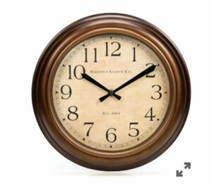 Allen Roth Og Round Indoor Large Number Oil Rubbed Bronze Wall Clock New 761768398746 Ebay