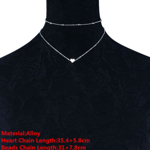 Punk Women Sequins Beads Choker Necklace Simple Chain Collar Gothic Jewelry Gift
