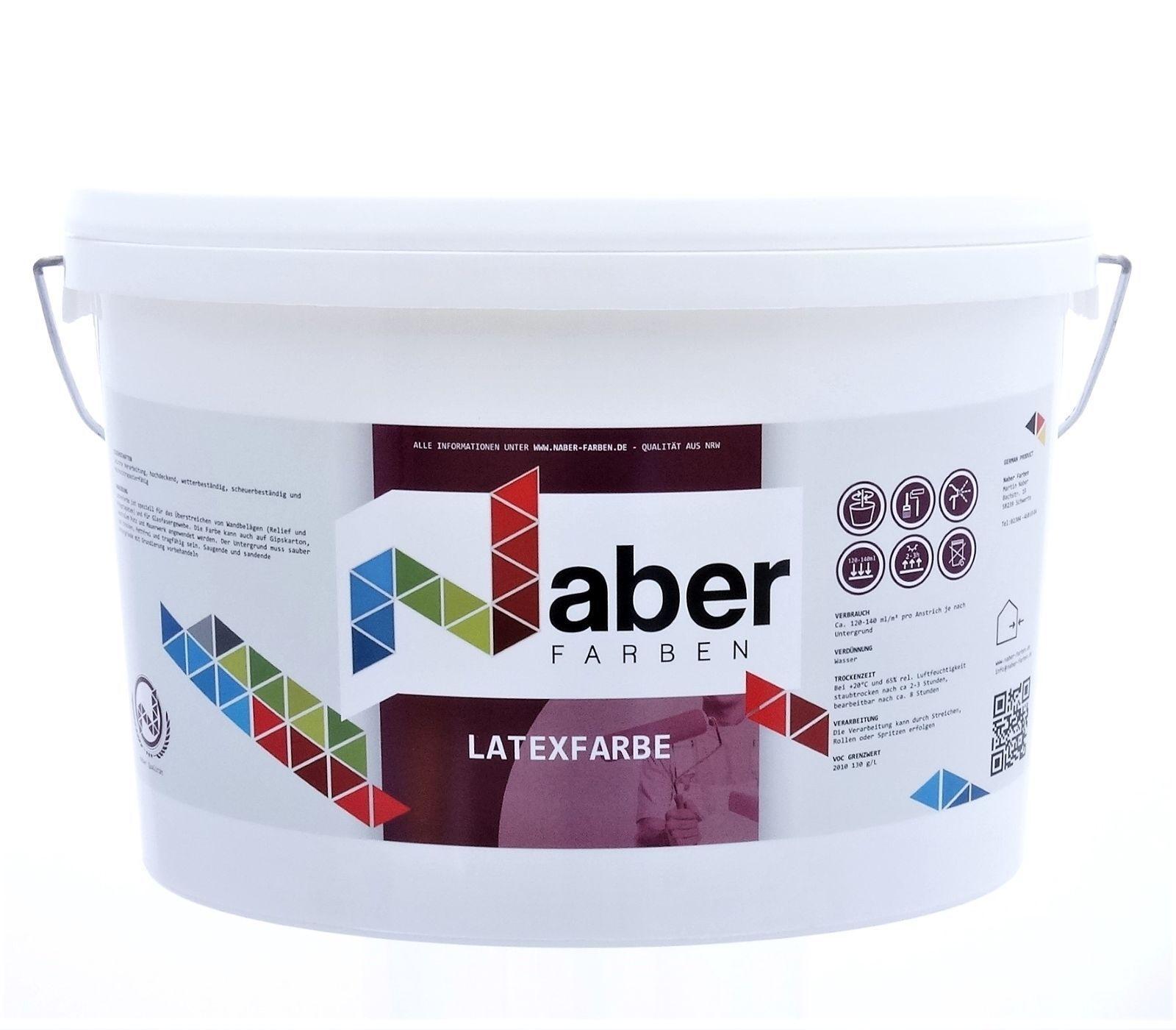 ( /L) 10 L LATEXFARBE - RAL 7022 UMBRAGRAU - Latex-Seidenmatt -