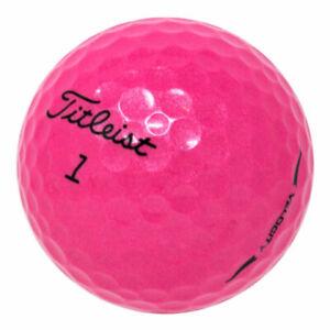 48 Titleist Velocity Pink Mint Used Golf Balls AAAAA *In a Free Bucket!*