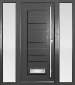 Grey palmero solidor composite door anthracite grey with sidelights ebay - Reasons may want switch upvc doors windows ...