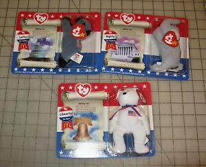 Image is loading TY-McDonald-039-s-Beanie-Baby-Political-Trio- 9db284fcd8b