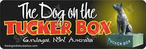 The Dog on The Tuckerbox Bumper Sticker