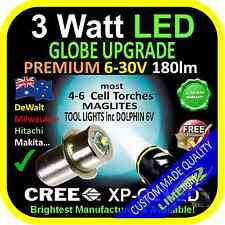 LED 6-30V UPGRADE 3W BULB GLOBE for MAGLITE FLASHLIGHT TOOL LIGHTS & 6V LANTERNS