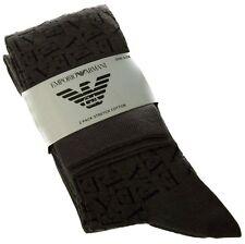 Armani Men's 2 Pairs Grey Socks Plain & Patterned BNWT M L Pk Pack 6-11 40 - 45