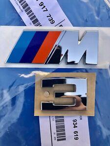 Logo M3 Trunk BMW E30 S14 77.8oz M Acronym Badge Genuine 51141917739 51141934619
