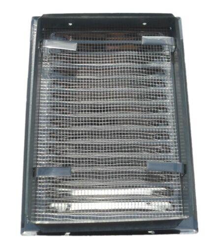 METAL air vent grille 120mm x 160mm acier inoxydable mur de ventilation couverture mt01n