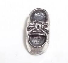 """Vintage Sterling Silver 925 IBB THAI Charm Baby Shoe 1.9g 1/2"""" x 1/4"""""""