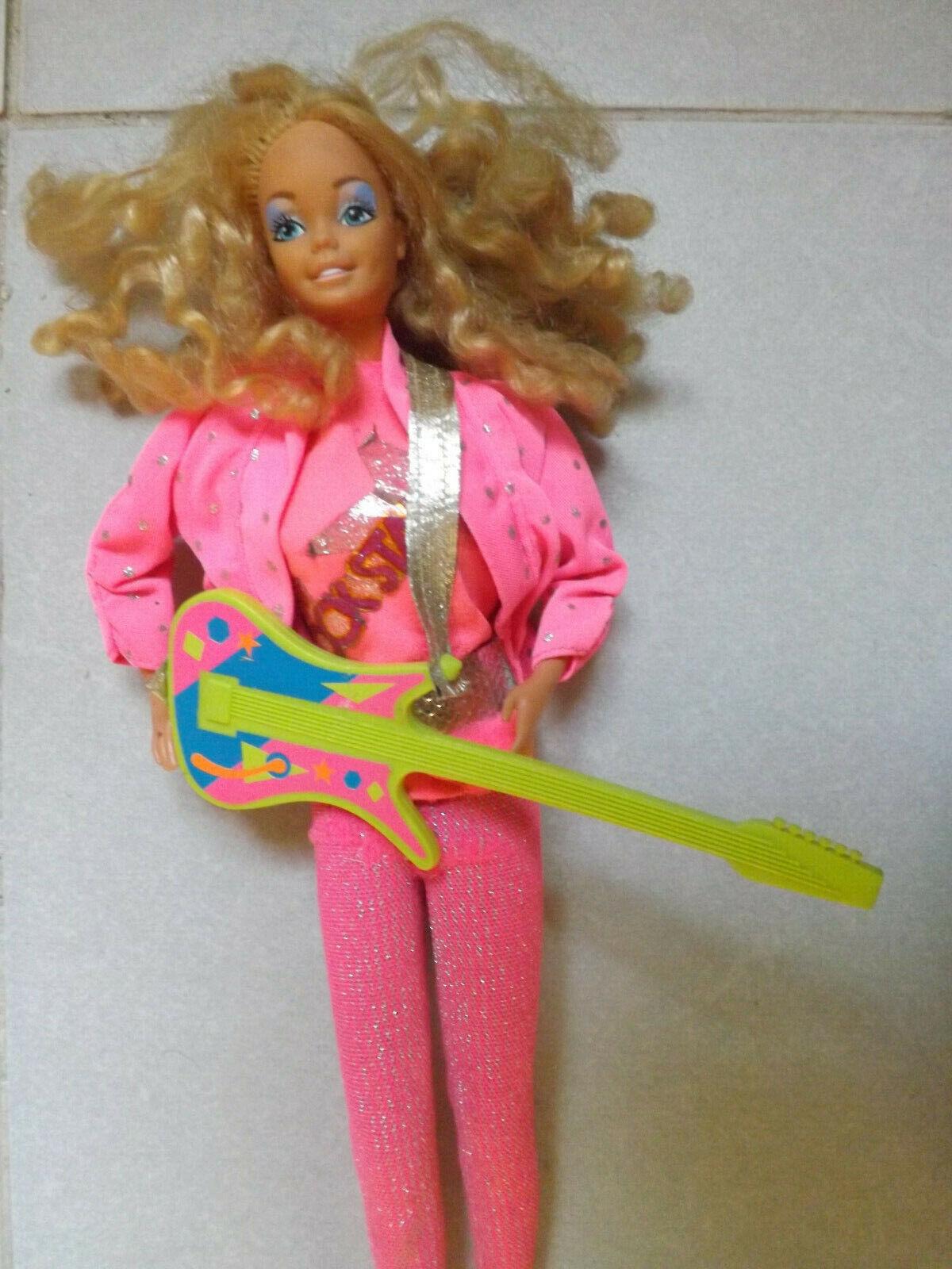 Barbie Rockstar ancienne poupée vintage rock star superstar guitar - dolls doll