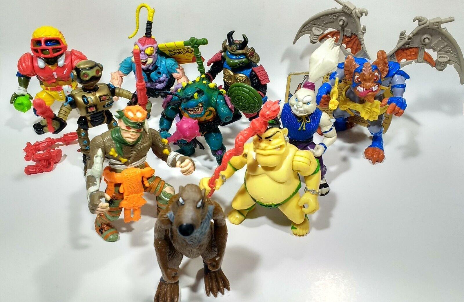 1989 Tmnt Lote 18 figuras 50+ Accesorios + Extras Teenage Mutant Ninja Turtles