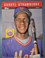 1986 Topps 3 D Darryl Strawberry New York Mets 26 Baseball Card For