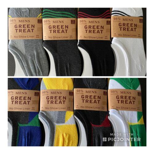 Mens Invisible No Show Liner Socks Sox size 6-11 UK 12 pairs