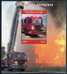 Mali-2018-MNH-Fire-Engines-Brigade-1v-M-S-Camions-de-Pompiers-Trucks-Stamps