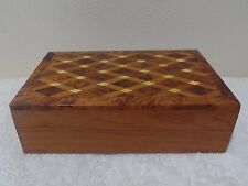 Moroccan Jewelry Gift Box Handmade With Thuya Wood Honeycomb Design