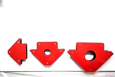 "3-pc Magnetic Welding Holders 3"" 4"" 5"" Strong Hold DIY 3 Angle Arrow Welding set"