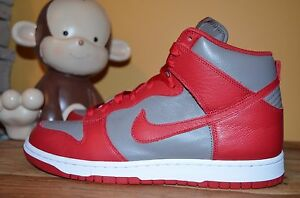 NEW NIKE DUNK RETRO QS OSU Ohio State 9.5 - 11 SOFT GREY/RED 850477-001 High Top