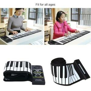 88-Key-Electronic-Piano-Keyboard-Silicon-Flexible-Roll-Up-Piano-w-Speaker-H9V1