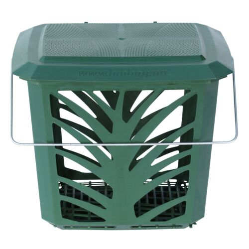 Vented Compost Caddy/&50x8L Compostable Bags-Green-Food Waste Recycling 7 Litre