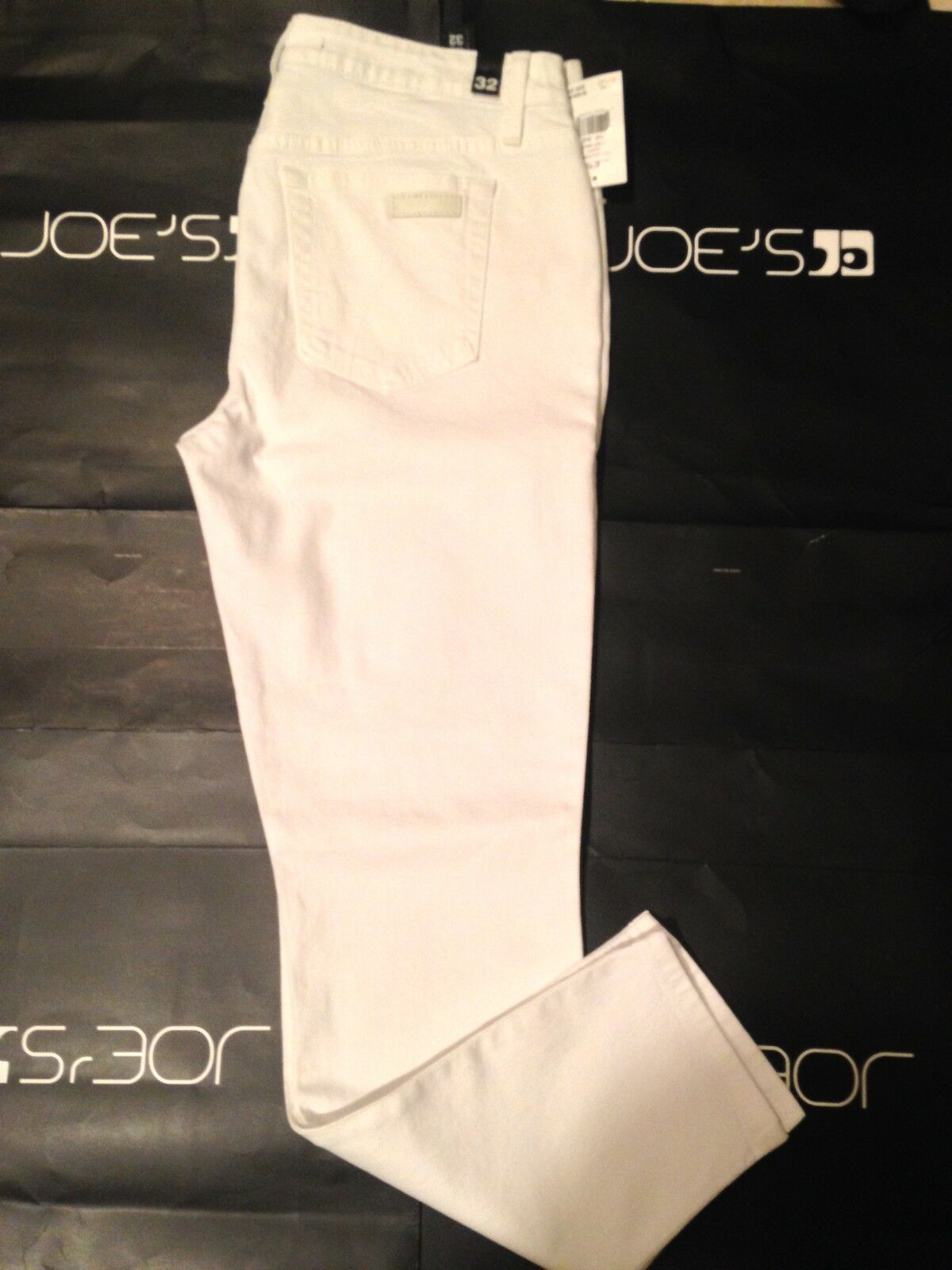 NWT WOMEN'S Joes Jeans White 25  Rolled Crop Denim Jeans Size 30