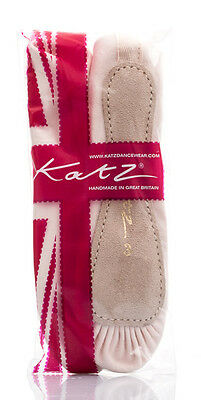 Damas Y Niñas Rosa Satinado Split Suela Zapatos De Ballet Todos Los Tamaños De Katz Dancewear