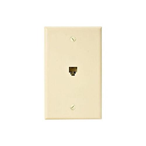Eagle Telephone Jack Wall Plate Ivory RJ11 Modular 4-Conductor Phone Data Plate