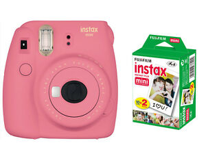 Fujifilm instax mini 9 Instant Film (Polaroid) Camera, Flamingo ...