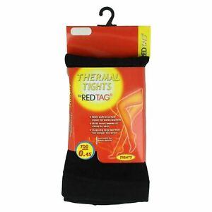 REDTAG Girls Black Thermal Tights 0.45 Tog