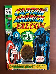 Captain-America-139-1971-8-0-VF-Marvel-Key-Issue-Comic-Bronze-Age-Stan-Lee