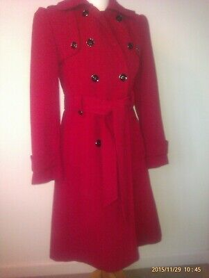 Ben De Lisi Trench coat Principles Red size 10 | eBay