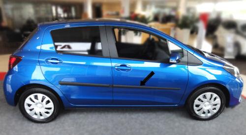 Seitenschutzleisten schwarz für Toyota Yaris III 5-Türer ab facelift ab 08.2014